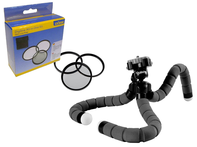 三脚付き 58 mmフィルターセット(UV、偏光、クローズアップレンズ)付きカメラアクセサリー B075XTGCDD