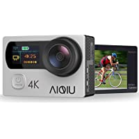Action Camera 4K, AIQIU 12MP WiFi Waterproof Underwater Video Camera with Remote Control