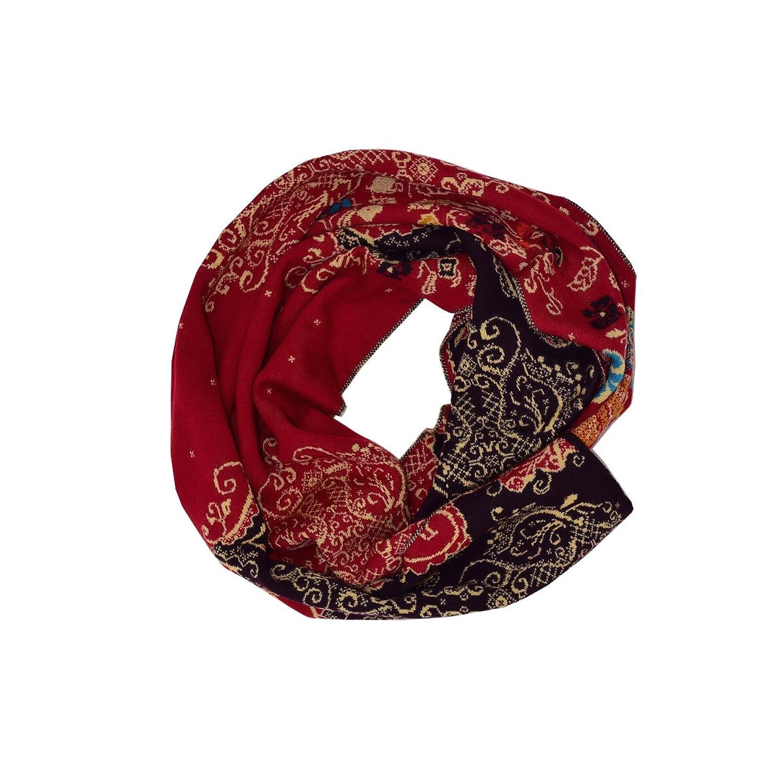 Zauberhafter Schal mit geometrischen Mustern von Ivko in Kirsche ONE SIZE