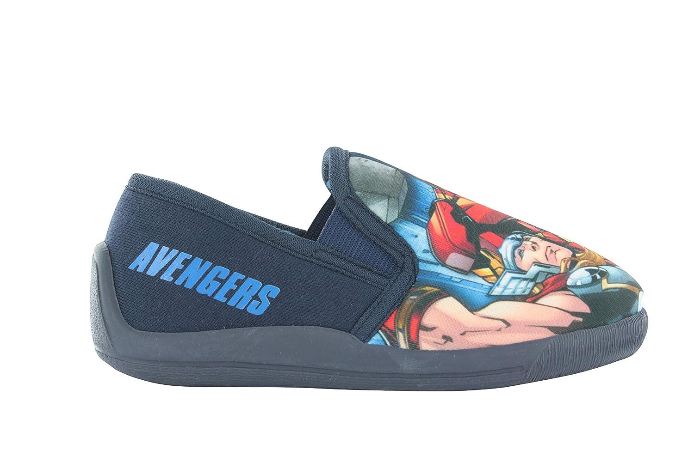 Boys Marvel Avengers Captain America Iron Man Thor Fur Lined Slippers Size 10-3
