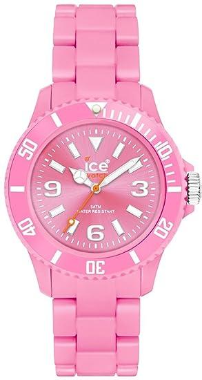 B.P.10 - Reloj analógico de caballero de cuarzo con correa de plástico rosa - sumergible a 50 metros: Ice-Watch: Amazon.es: Relojes