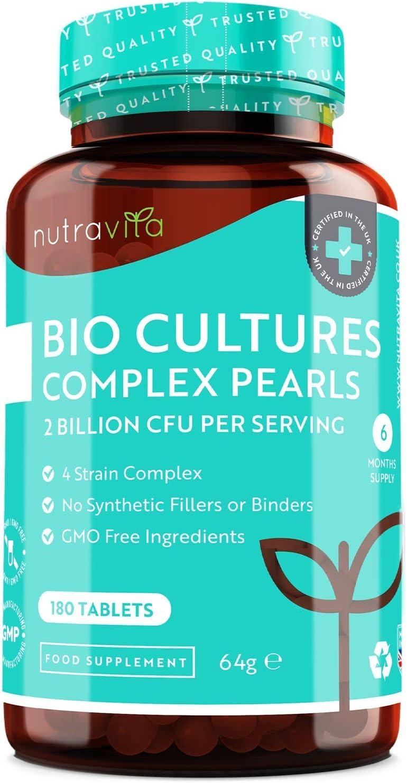 Potente Probióticos - 180 Capsulas (Suministro de 6 Meses) - Incluye 2 mil millones de UFC garantizados por dosis con Lactobacilos y Bífidobacterias - Probioticos para Hombres y Mujeres - Hecho en EU
