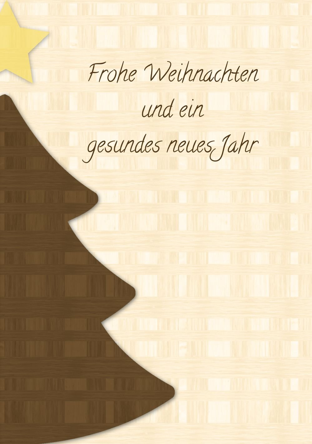 Kartenparadies Kartenparadies Kartenparadies Grußkarte Weihnachten Foto Grußkarte Holzkaro, hochwertige Weihnachtsgrüße als Weihnachtskarte (Format  105x148 mm) Farbe  Braun B01N21U2YA   Feine Verarbeitung    Up-to-date Styling    Verrückter Preis  232c00