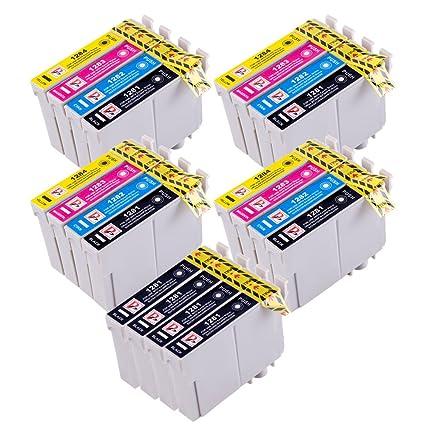 PerfectPrint Compatible Tinta Cartucho Reemplazo Para Epson Stylus S22 SX-125 130 420W 425W 445W 230 235W 445W 435W BX-305F 305FW T1285 ...