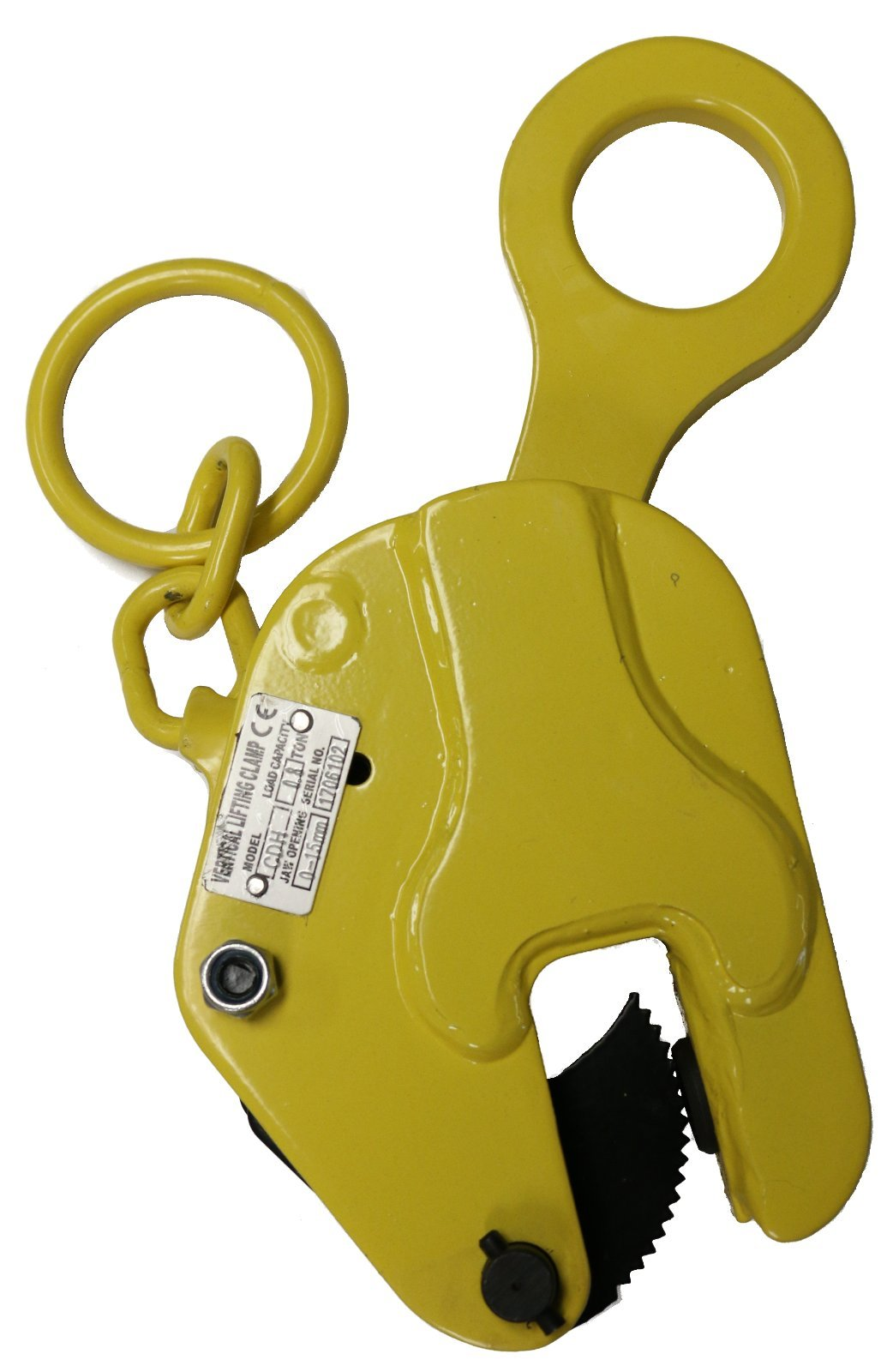 V-Lift Industrial Vertical Plate Lifting Clamp Steel 1763 lb WLL .8T with Lock by V-Lift Industrial