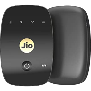 JioFi 4G Hotspot M2S 150 Mbps Jio 4G Portable Wi Fi Data Device  Black