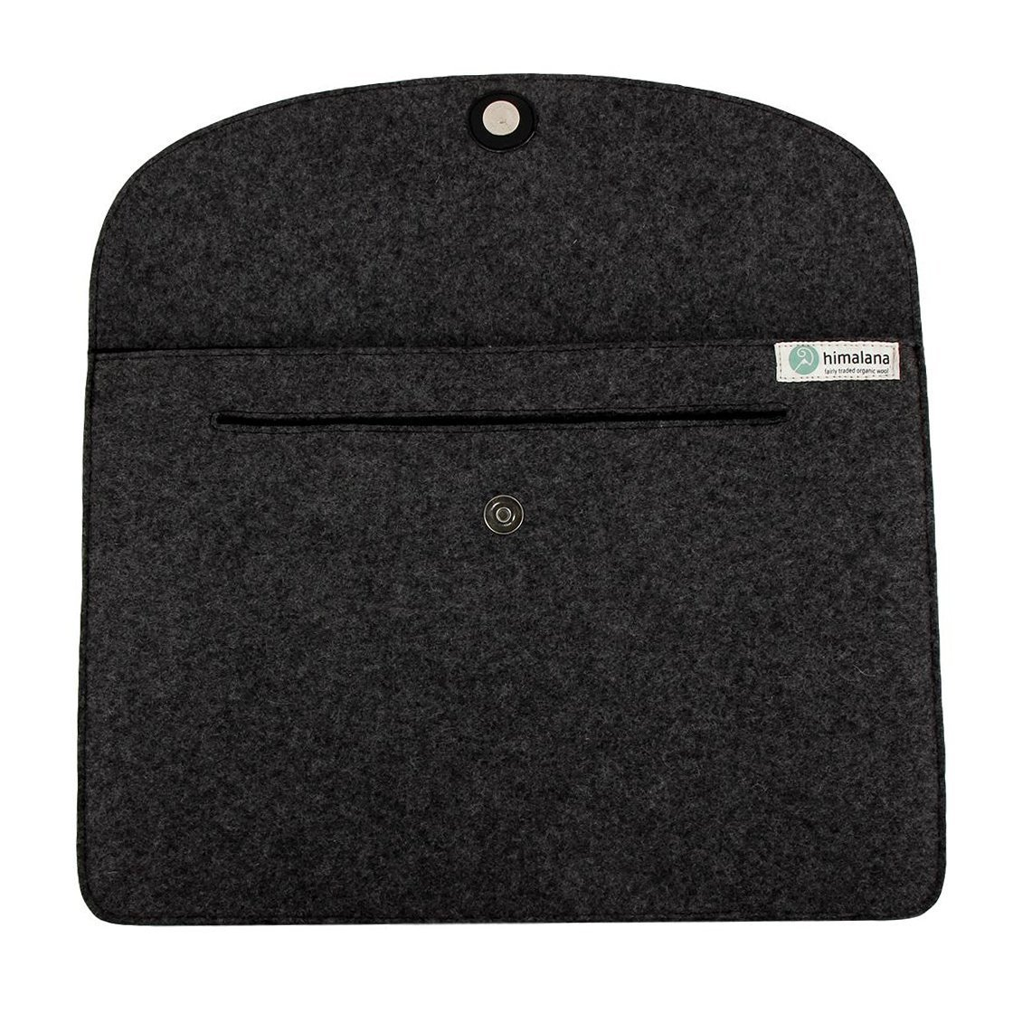 Mojopanda Virgin Organic Wool Felt 13-13.5 Inch Macbooks, Laptop Grey Sleeve Case Carrying Bag With 2 Back Pouches For Mobile Phones And An Inner Packet For Tab, Ipad Or Power Chord. by MOJO PANDA (Image #6)
