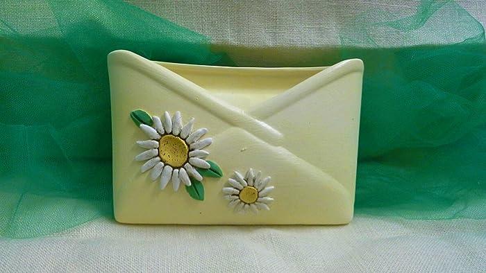 Porta margaritas cerámica cartas en línea: Amazon.es: Handmade