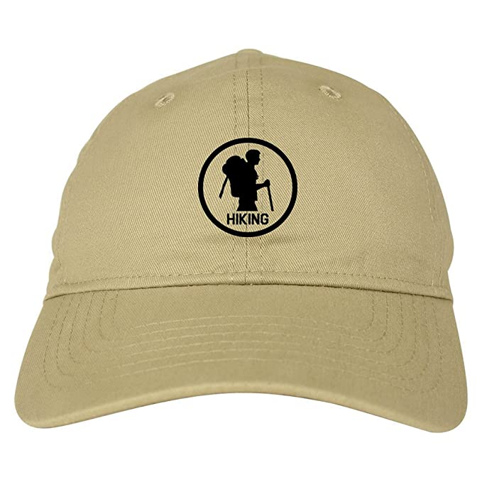 Backpacking Outdoor Hiking Chest Dad Hat Baseball Cap Beige at ... 07a3227c718