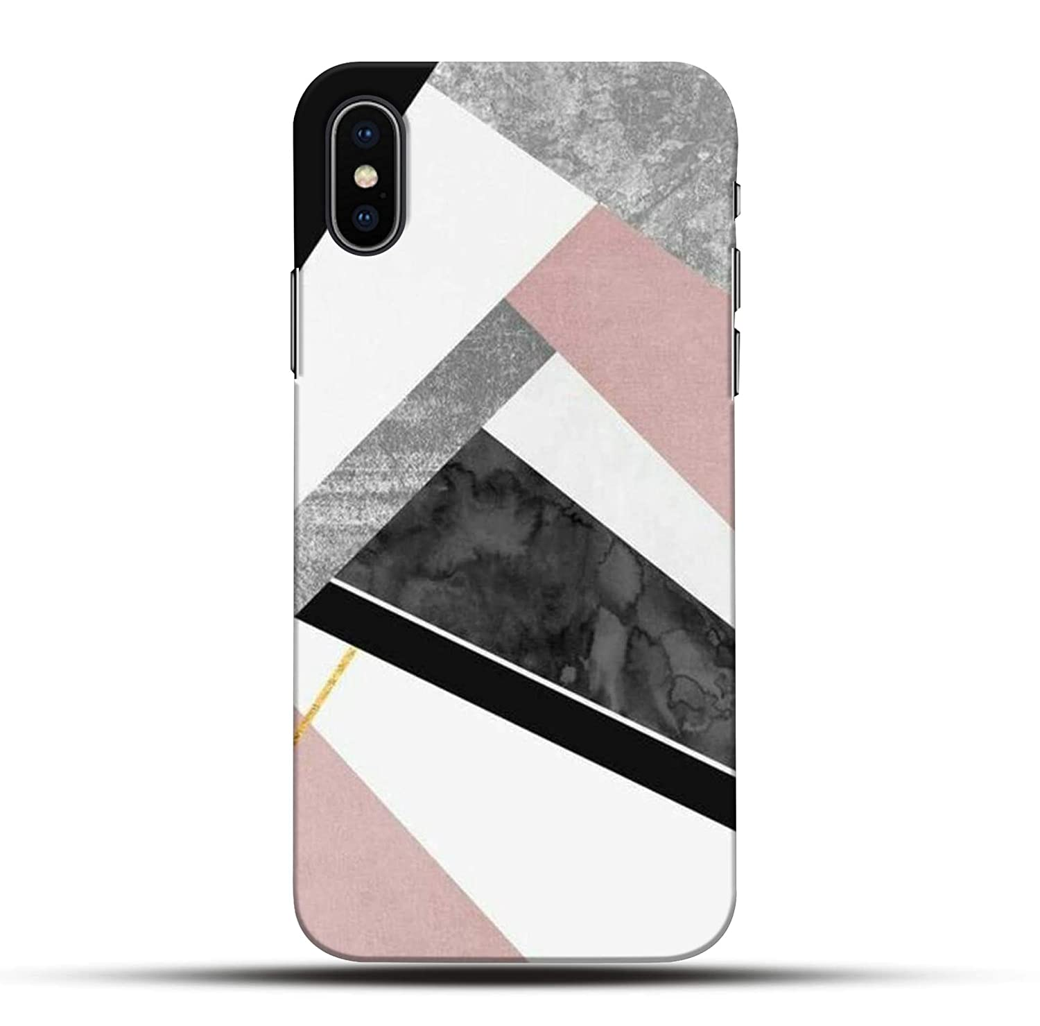 Pikkme Funky White Black Pink Marble Abstract Amazonin
