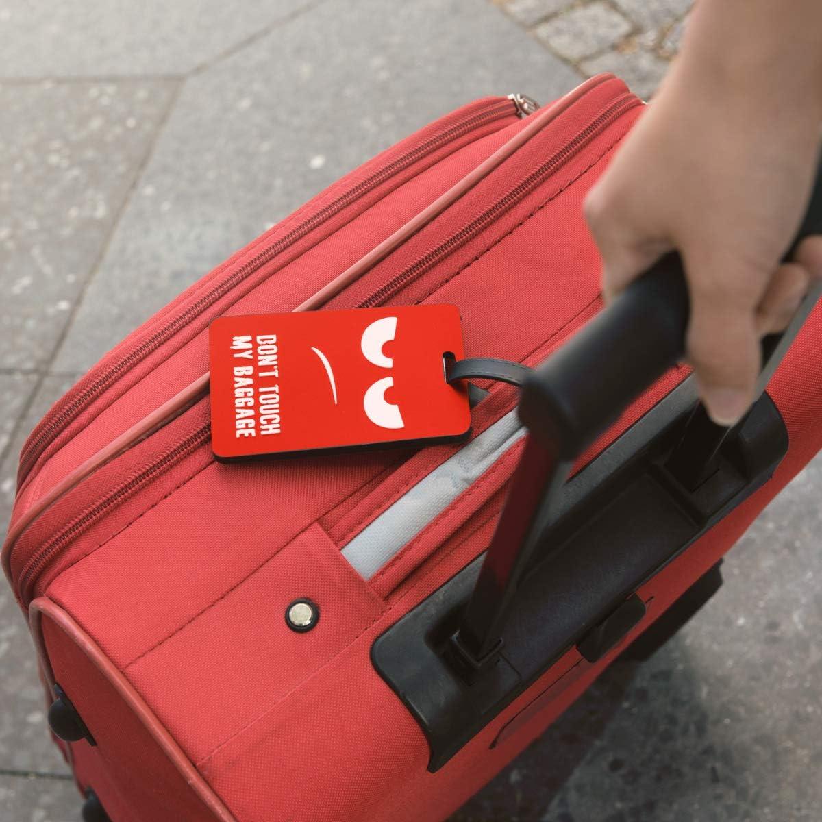 Aventure kwmobile /Étiquette Bagage pour Valise Tag Porte-/étiquettes pour Valise et Sac de Voyage avec Carte nom adresse num/éro