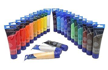Magi Feine Acrylfarbe 24 Tuben Je 60 Ml Original Farben Mega