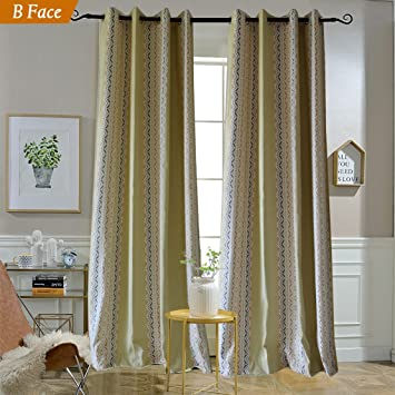 Yellow Curtains Double Sided Design Drapes
