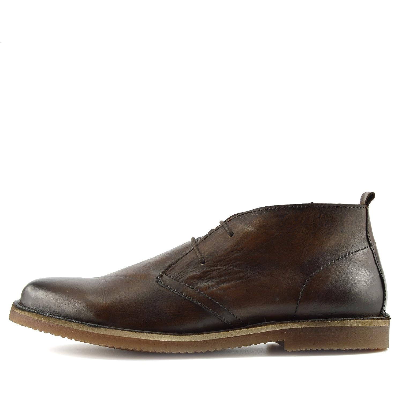 Kick Footwear - Neue Herren Wildleder Lauml;ssige Schnuuml;rschuhe Mode-Stiefel Knouml;chel Desert Schuhe  41 EU|Brown Leather