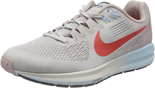 Nike W Air Zoom Structure 21, Zapatillas de Running para Mujer, Gris (Gris Vasto/Rojo Habanero/Element 006), 38 EU: Amazon.es: Zapatos y complementos