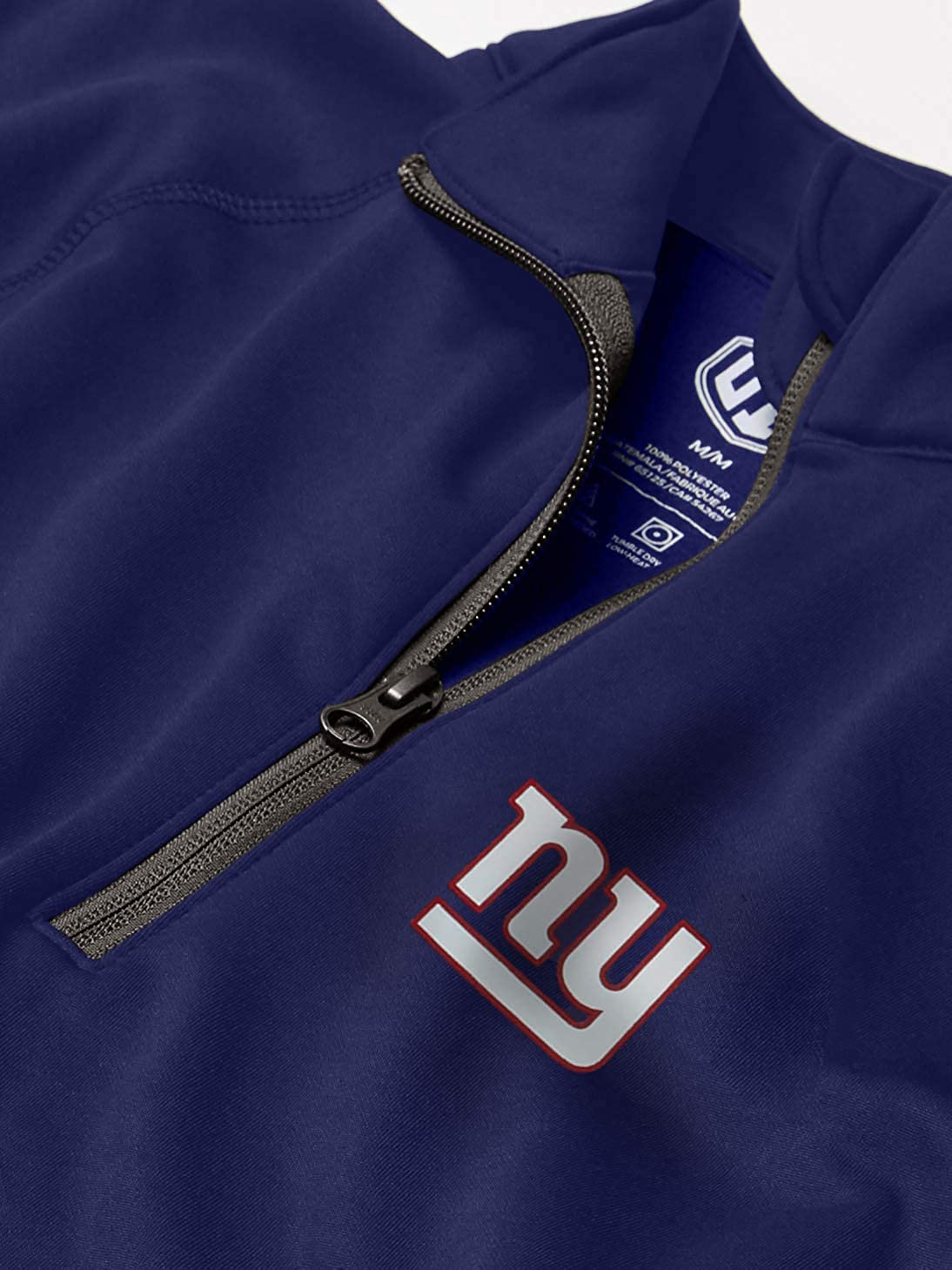 OTS NFL New York Giants Mens Poly Fleece 1//4-Zip Pullover X-Large Logo