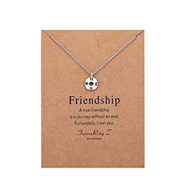Amazon.com: ForeveRing Z Collar para mujer con tarjeta de ...