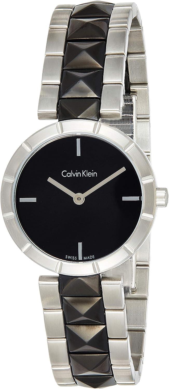 Calvin Klein Reloj Analógico para Mujer de Cuarzo con Correa en Acero Inoxidable K5T33C41
