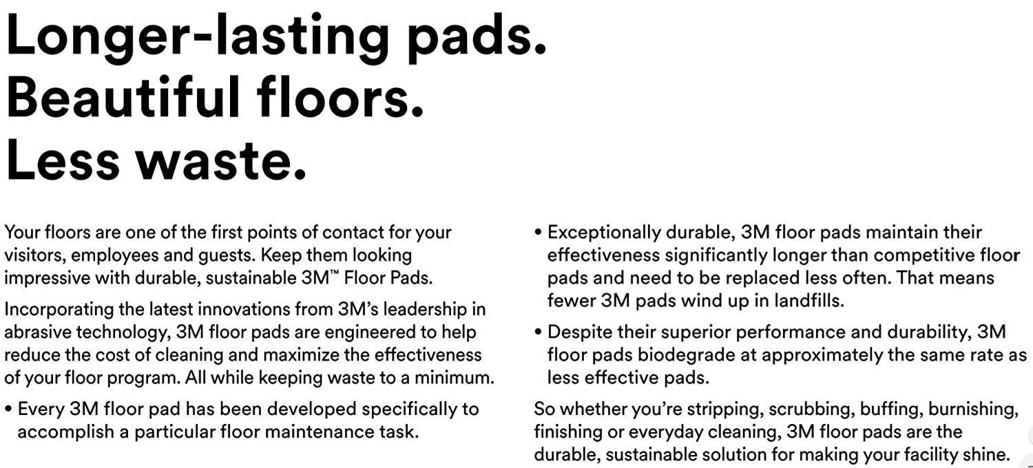 3M High Productivity Pad 7300 18 in