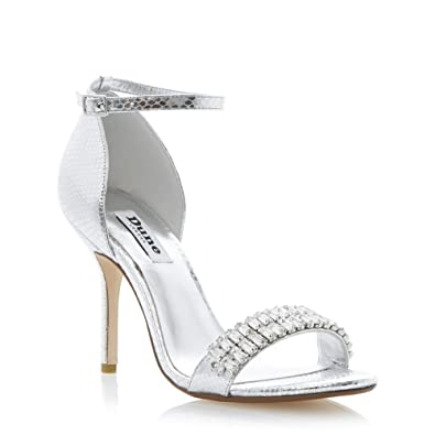 Silver Jewelled Heels Boots And Heels 2017