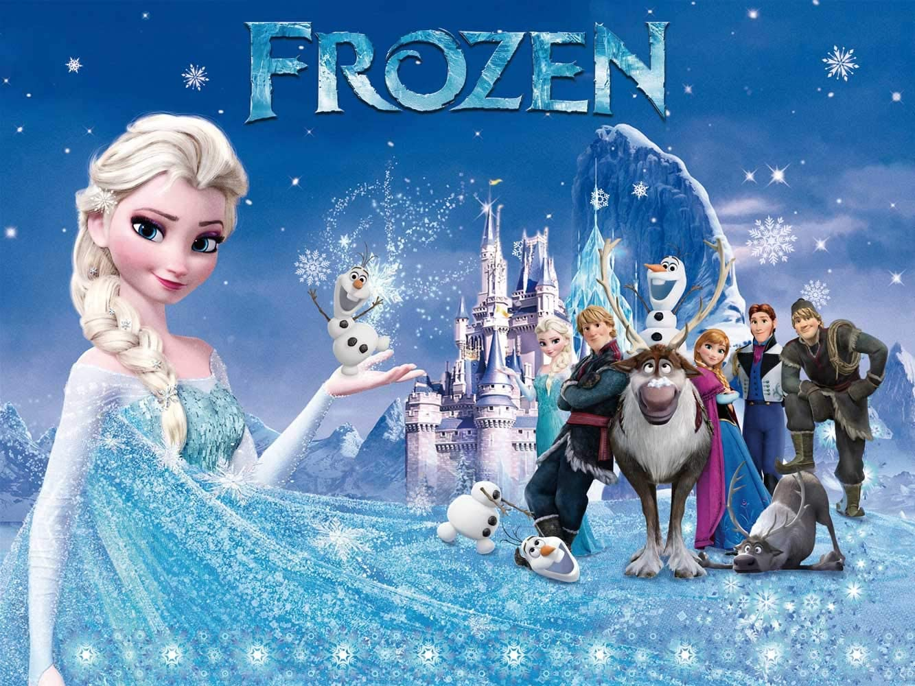 Frozen Girl Backdrop   1st Birthday   Baby Shower   for Girl   Elsa Princess   Party Supplies   Banner Background Photography Ice Castle