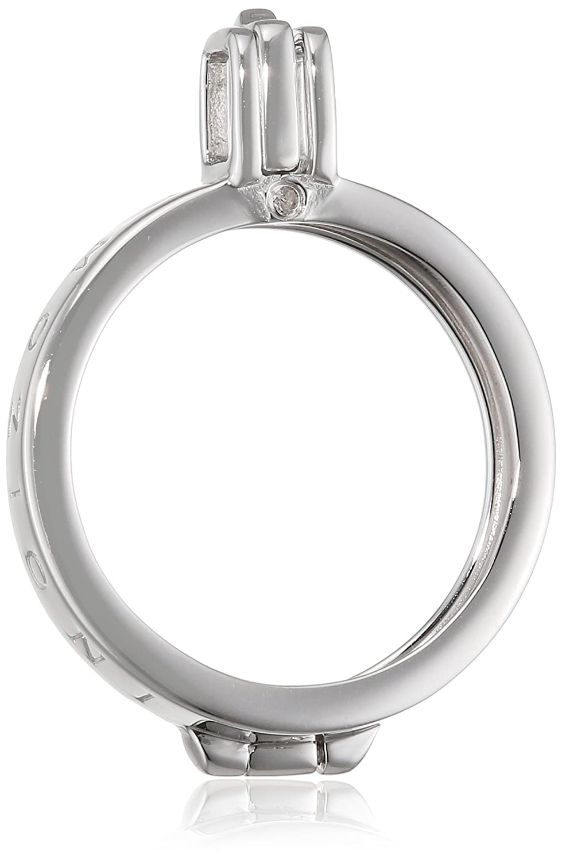 Emozioni Damen-Münzfassung925 Diamant 0.01 ct Weiß Rundschliff 2.5 cm - DP448