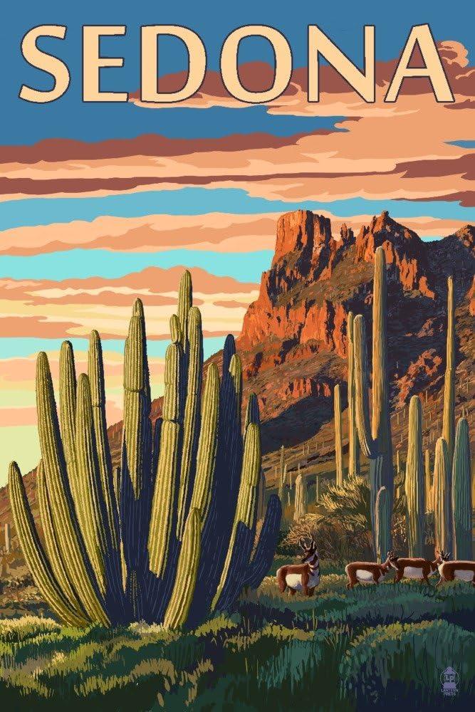 Sedona, Arizona - Organ Pipe Cactus (12x18 Art Print, Wall Decor Travel Poster)