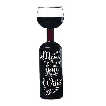 Bigmouth Inc vino para mamá para botella de vino de cristal
