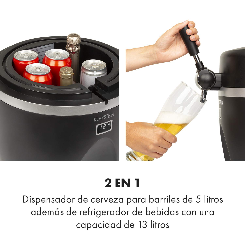 Klarstein Tap2Go dispensador de cerveza portátil 2 en 1 - para ...