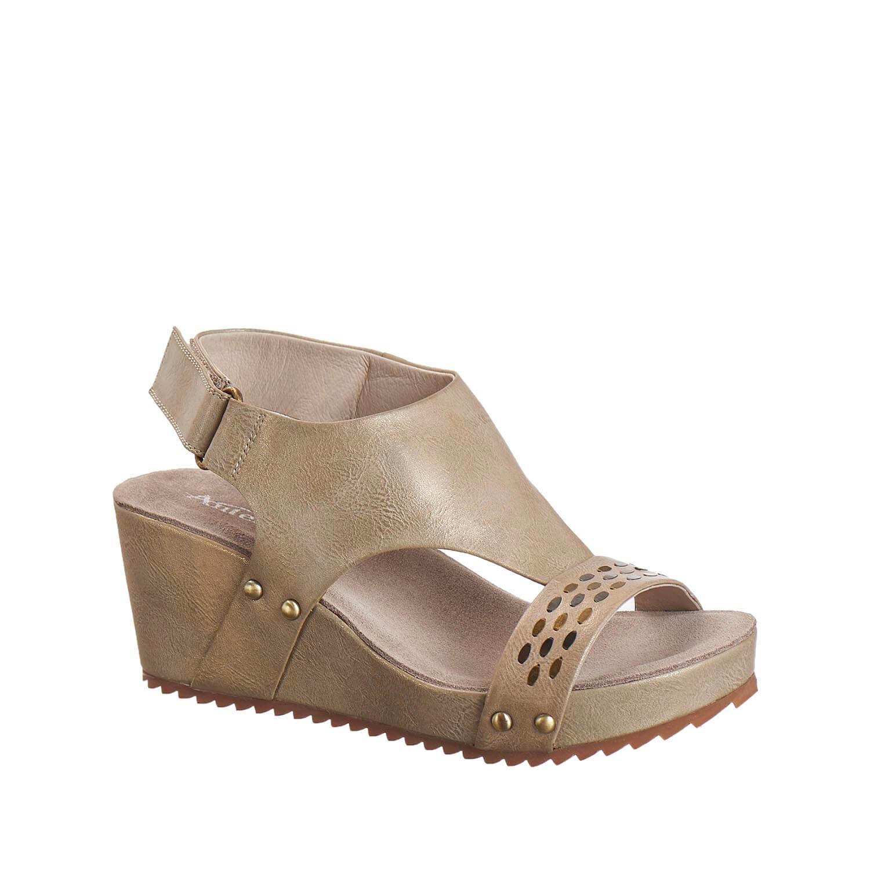 Antelope Women's 527 Metallic Leather Perf & Stud Sandals B01MV18KCS 5 B(M) US / 36 EU|Grey