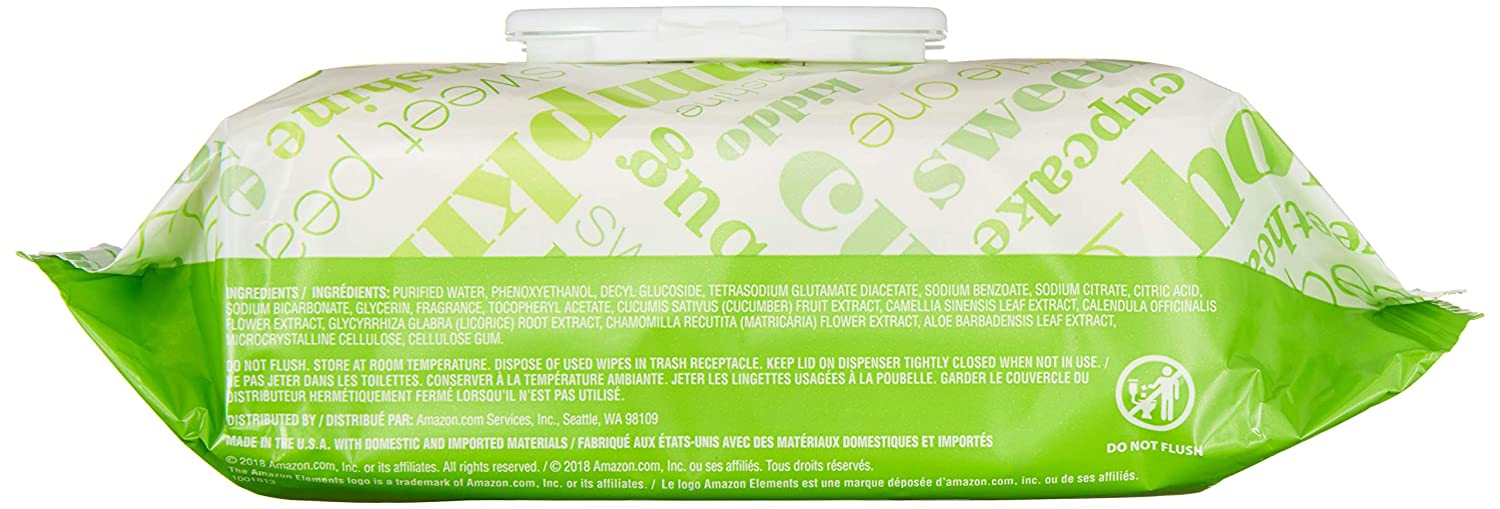 Elements Baby Wipes, Fresh Scent, 480 Count, Flip-Top Packs