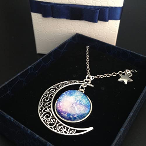 b1968a59330 Amazon.com  crescent moon necklace