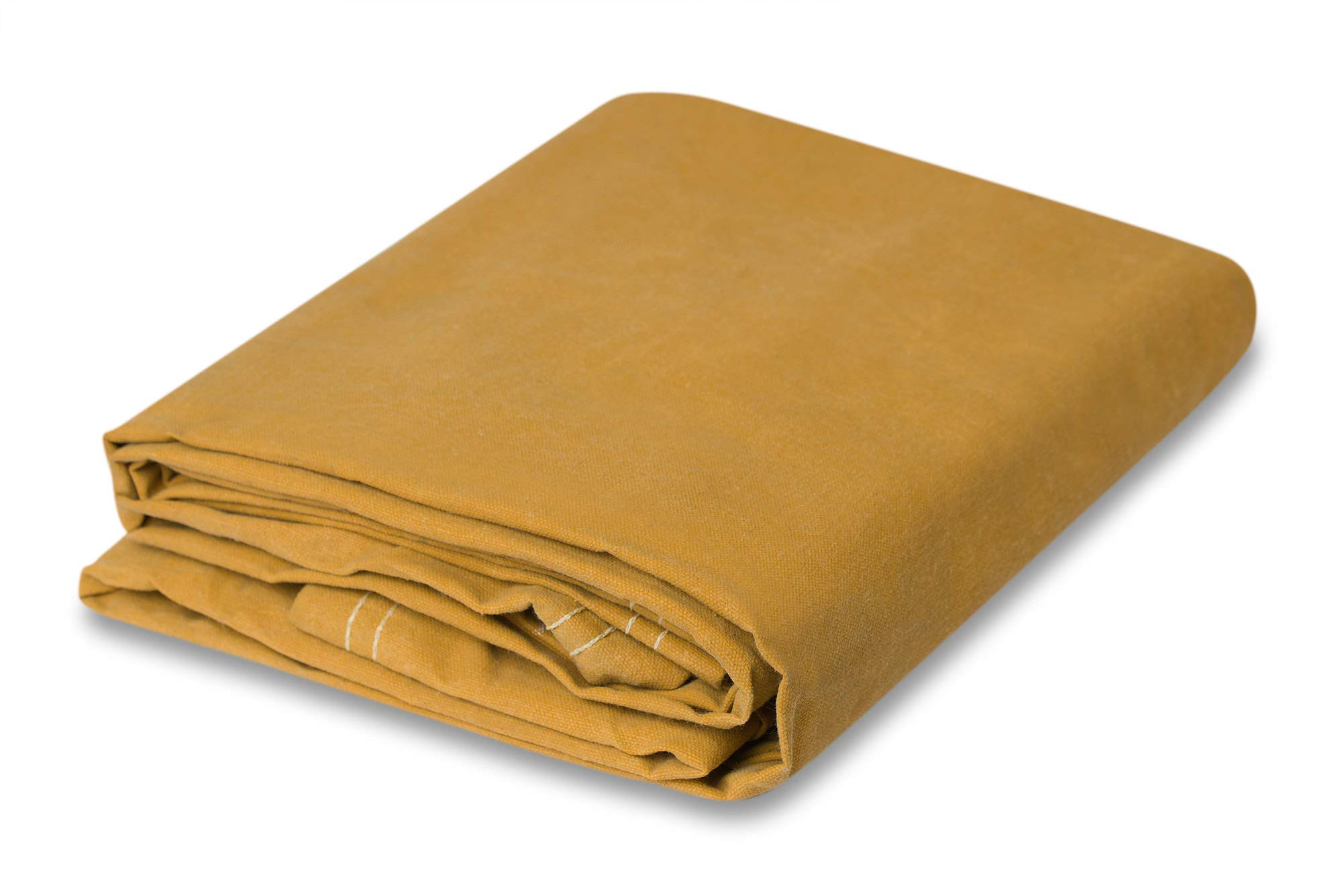 Gold Canvas Tarpaulin - Water and Mildew Resistant (8 feet x 10 feet) by CCS CHICAGO CANVAS & SUPPLY