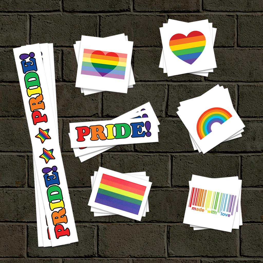 Pride Rainbow Temporary Tattoos | Skin Safe | MADE IN THE USA| Removable