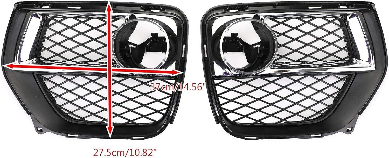 RKRXDH Nebelscheinwerfer Grille Car-Styling Parts Frontsto/ßstange Geschlossen Gitter Nebelscheinwerfer Abdeckgitter Links rechts gepasst for BMW X6 2012-2014