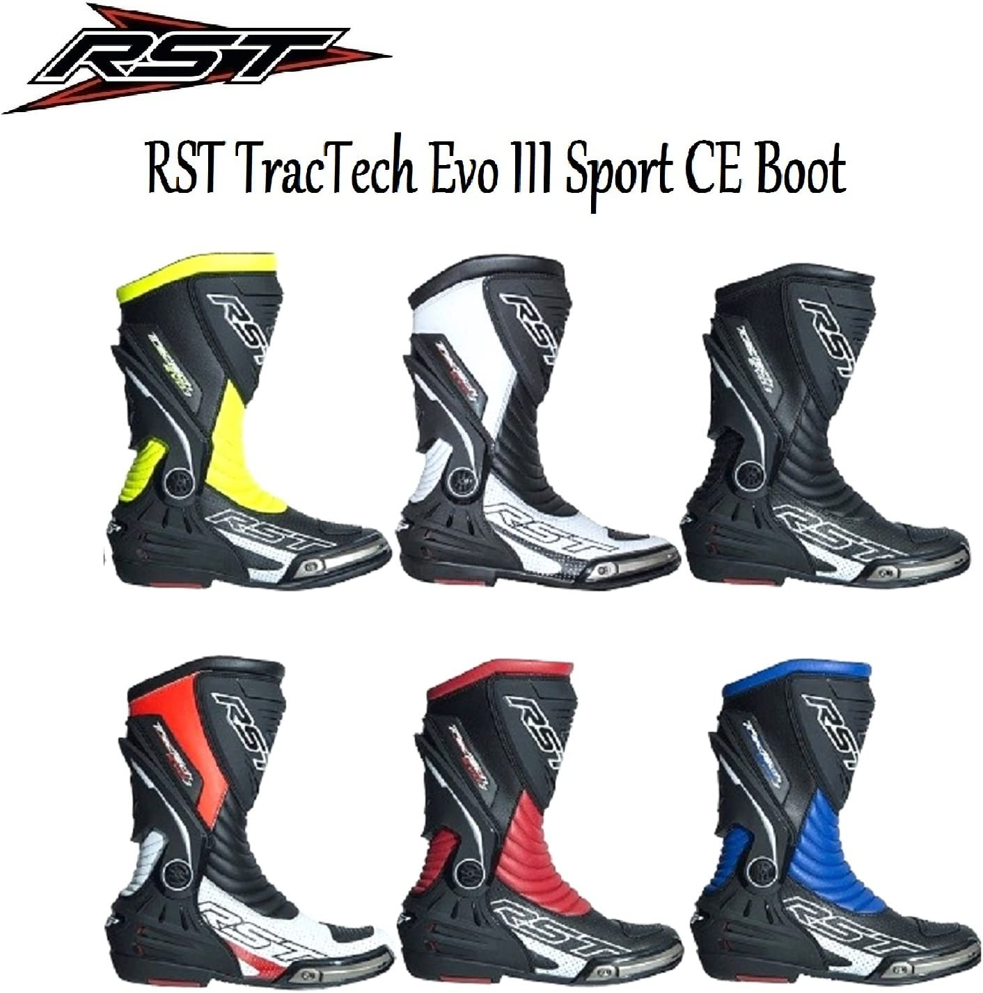 RST 2101 TRACTECH EVO III ADULT SPORTS CE MOTORCYCLE BOOTS New 2018 Unisex Motorbike Motocross Quad ATV Moto GP On-Road Track Racing Touring Armour Long Boots