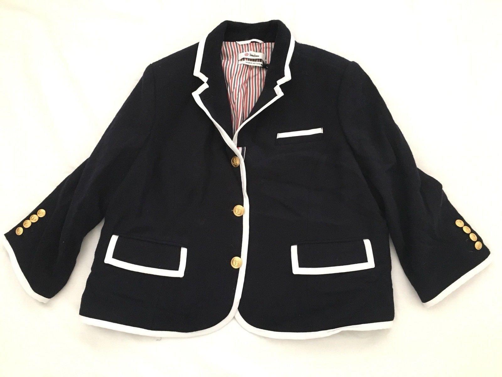 Thom Browne for Neiman Marcus + Target WOMEN Navy Wool Blazer