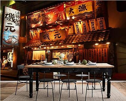 Mbwlkj Japanese Style Street Night 3d Wallpaper Mural Living