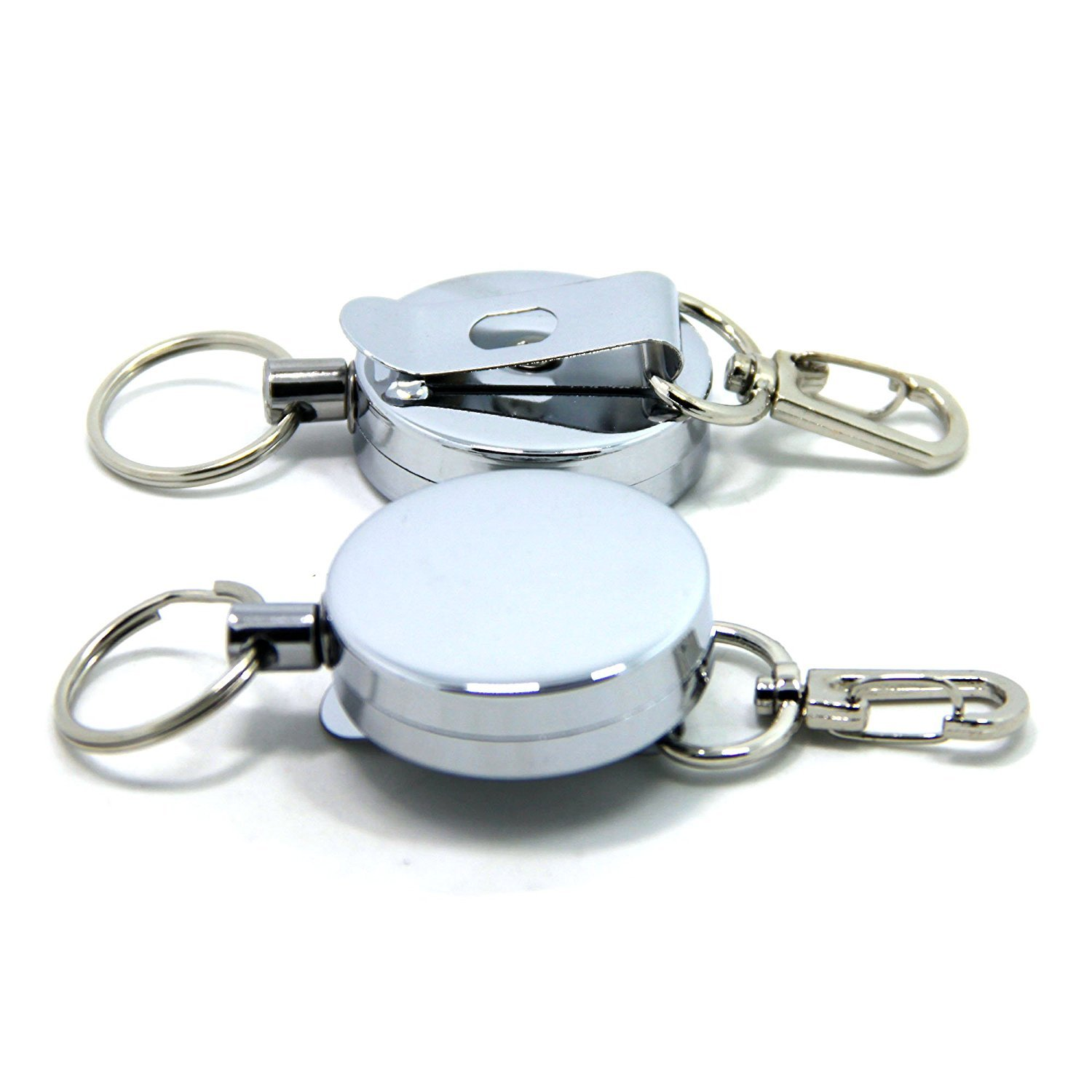 Fishing Zinger TOPIND Metal Retractable Key Chain Keys Reel Badge Holder with Belt Clip with Stainless Cable 2pcs Shanxi Top Industries Co. Ltd.