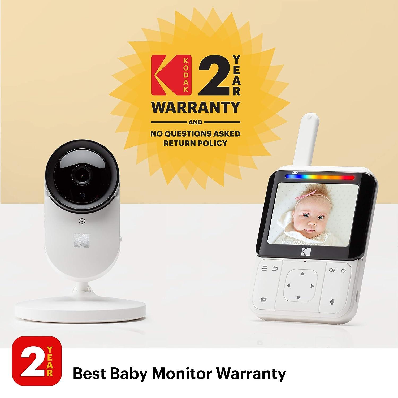 monitor de 2.8 pulgadas KODAK CHERISH C220IR /— C/ámara Vigilabebe con WiFi y App m/óvil visi/ón nocturna infrarrojos y conversaci/ón bidireccional Zoom