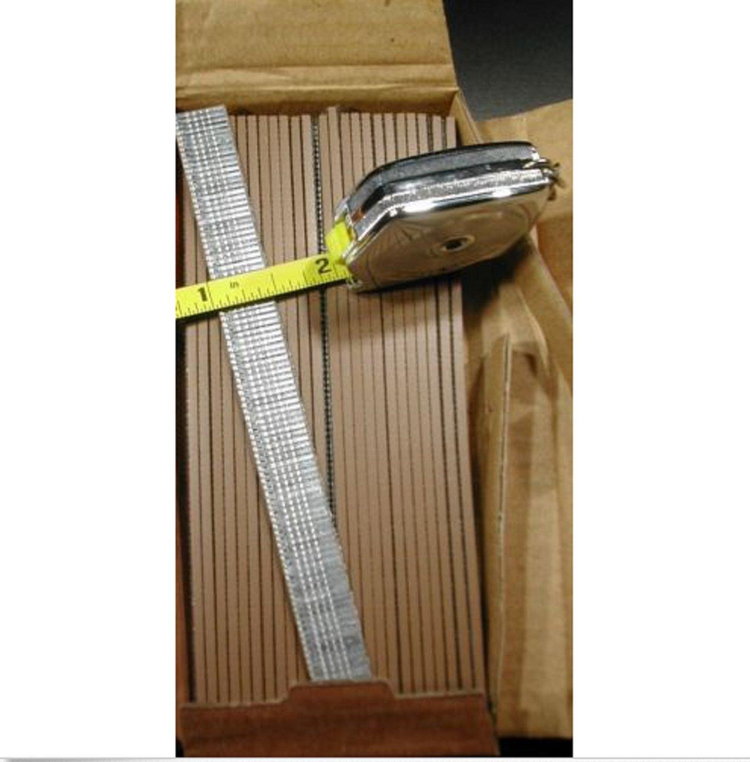 USA Premium Store Finish Brad Nails 18 gauge 1/2'' Inch Long 5,000pcs (Galvanized Chisel Point)