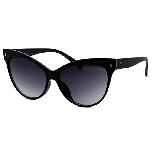 77870cb6e Image Unavailable. Image not available for. Color  Vitalli Stylish Grey  Lens Oversized Cat Eye Sunglasses ...