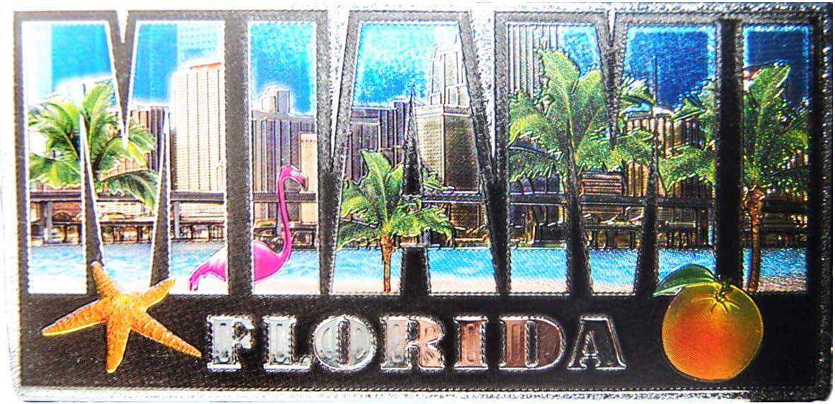 The City of Miami Florida State Souvenir Photo Letter Exclusive Refrigerator Foil Magnet