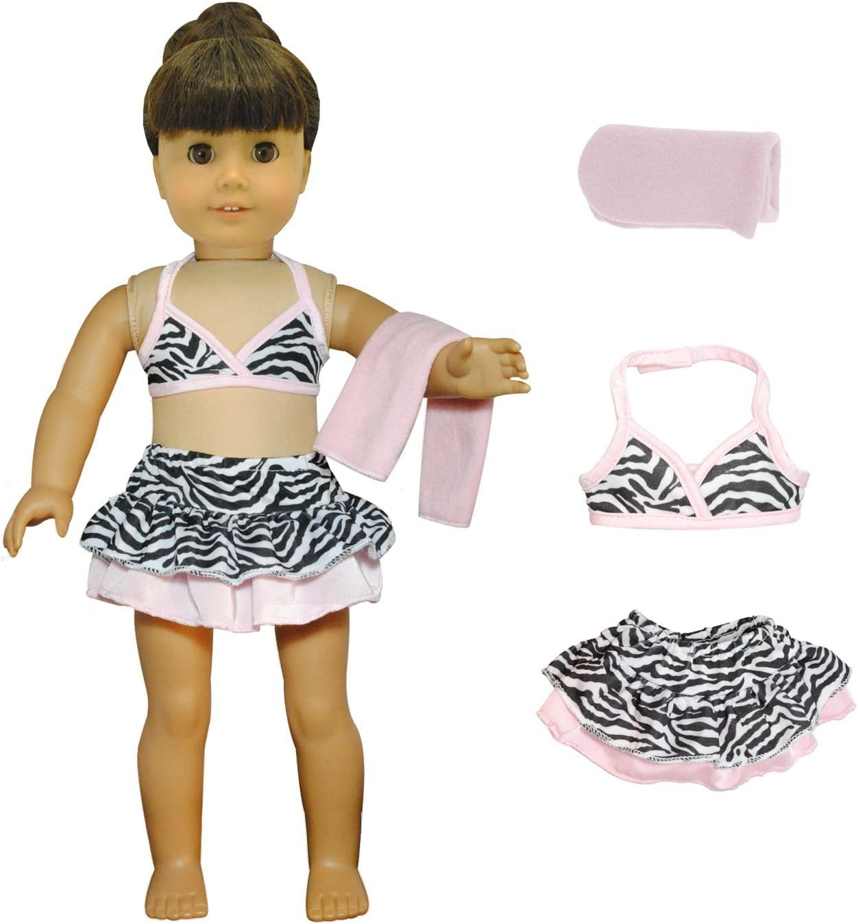 Doll Clothes Swimsuit Pool Goggles Pink Butterfly Closet Fits American Girl 18/""