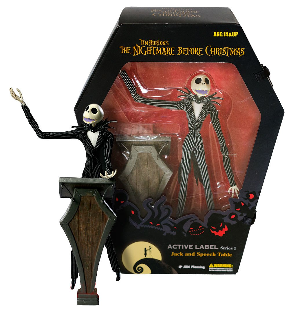 Jack ~9.5 Figure /& Speech Table Nightmare Before Christmas Active Label Action Figure Series #1