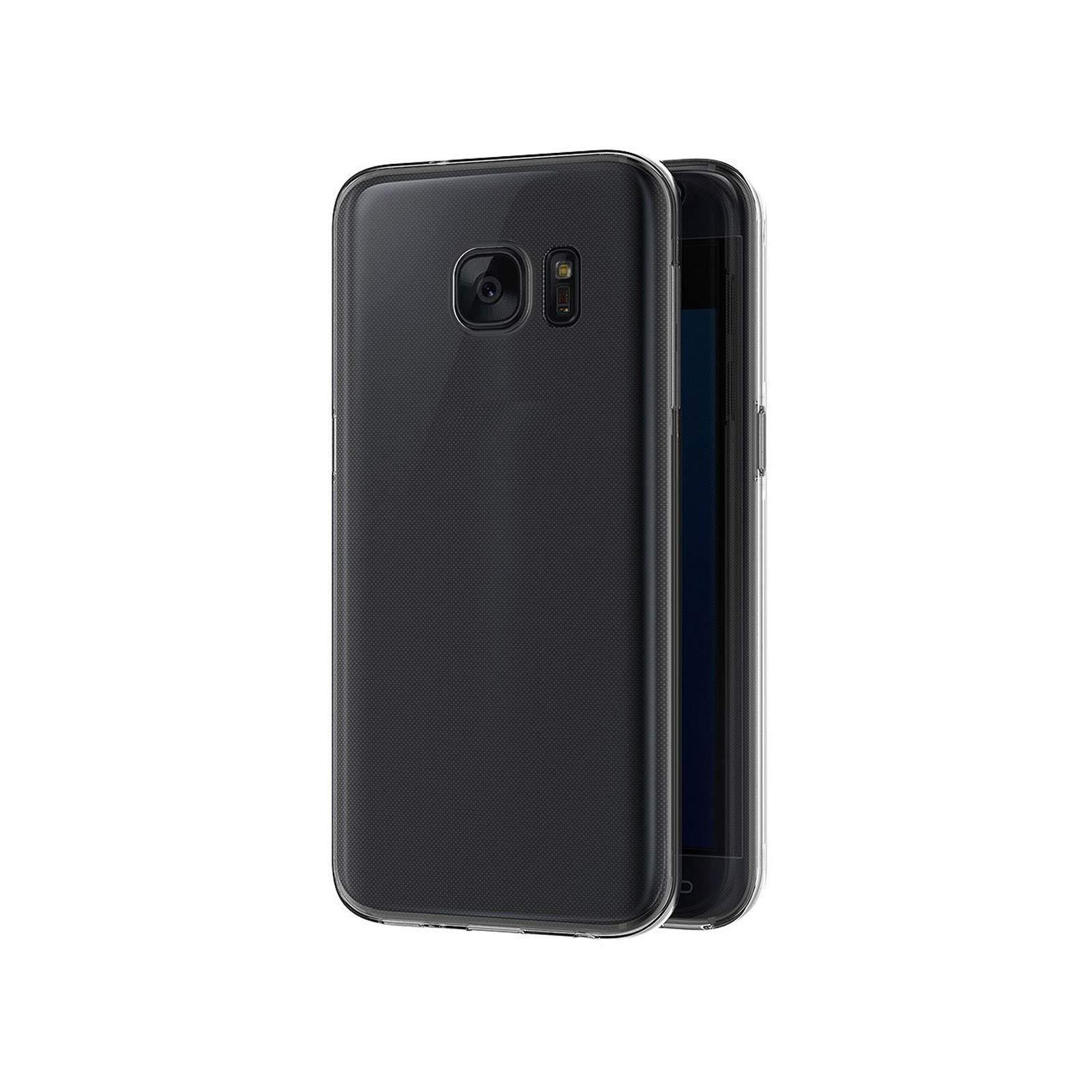 Coque Samsung Galaxy S7 ,Ordica France®, Housse Galaxy S7 Protection Souple TPU Full Cover 360 Housse Integrale Avant Et Arrière Etui Accessoires Ultra Fin Et Discret - Coloris Transparent