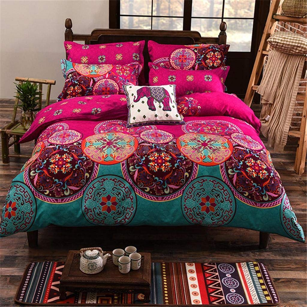 ZXLIADLY Bohemian Mandala Duvet Cover with Pillow Case Quilt Cover Bedding Set Bring You Everything is The Best