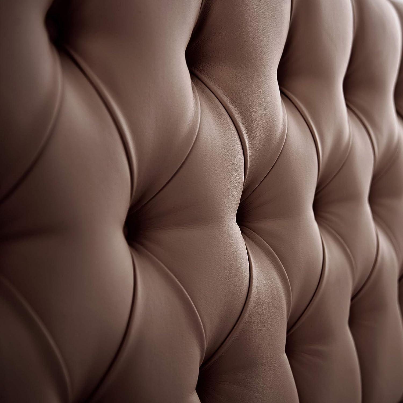 SUENOSZZZ-ESPECIALISTAS DEL DESCANSO Cabecero de Cama de 90 Modelo Copenhague Color Chocolate 100x57 Cabezal Madera de Gran Acolchado con capiton/é tapizado en Polipiel
