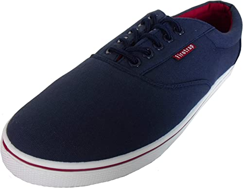 Mens Firetrap Lace Up Canvas Pumps Trainers Casual Sports Shoes Plimsolls New