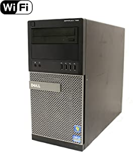 Dell Optiplex 790 High Performance Desktop Computer MiniTower, Intel Core i5-2400 Processor up to 3.4GHz, 8GB RAM, 2TB HDD + 120GB SSD, DVD, WiFi, Windows 10 Pro 64 bit (Renewed)